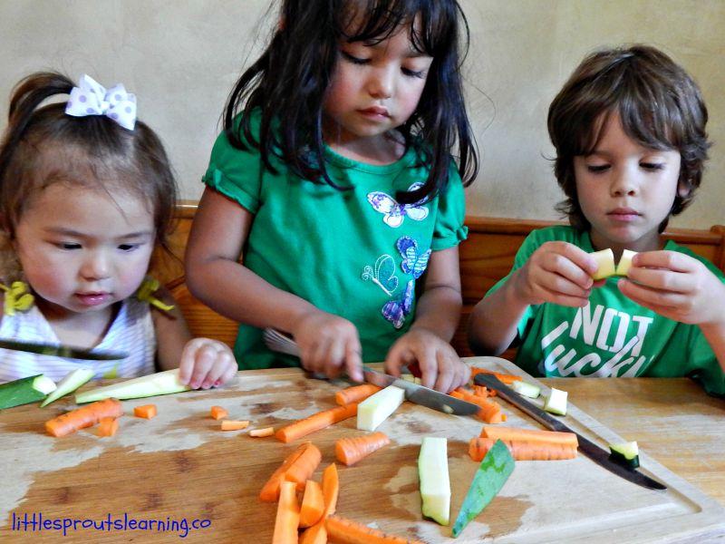kids cooking, 4 ways to celebrate friendship, preschool friendship week