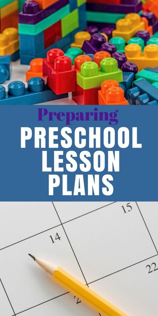 Preparing Preschool Lesson Plans