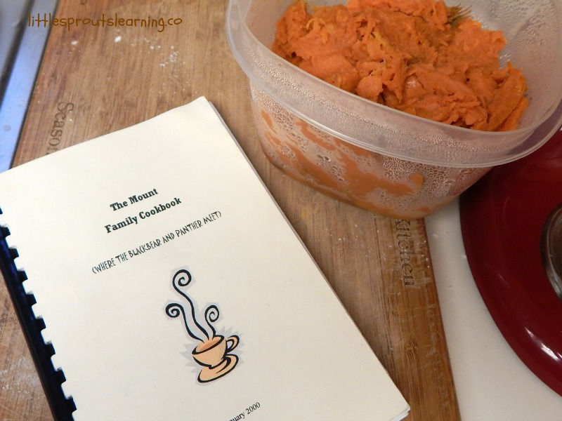 family recipes, sweet potatoes