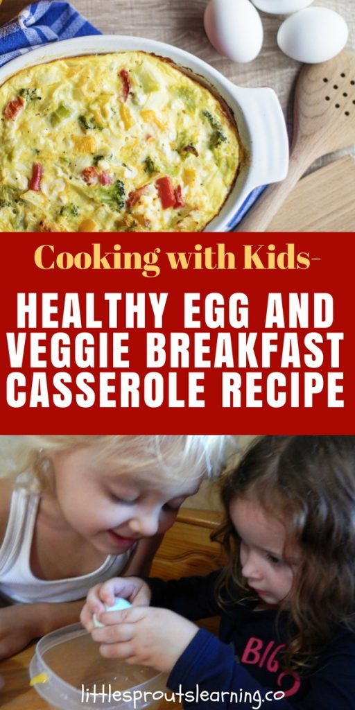 Cooking with Kids-Healthy Egg and Veggie Breakfast Casserole Recipe