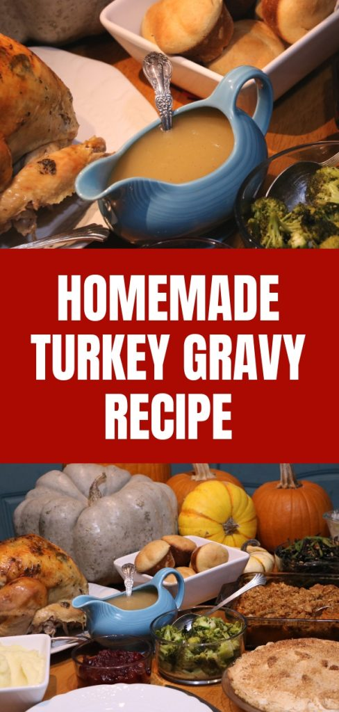 Homemade turkey gravy is super simple to make and costs very little, but it gives wonderful flavor and texture to your meal.