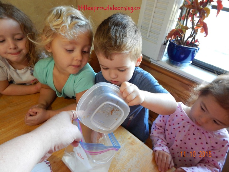 kids making ice cream in a bag