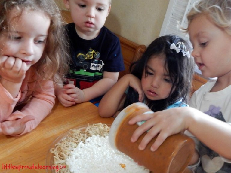 Cooking with Kids-Spaghetti Pie Recipe