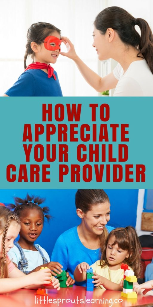 How to Appreciate your Child Care Provider