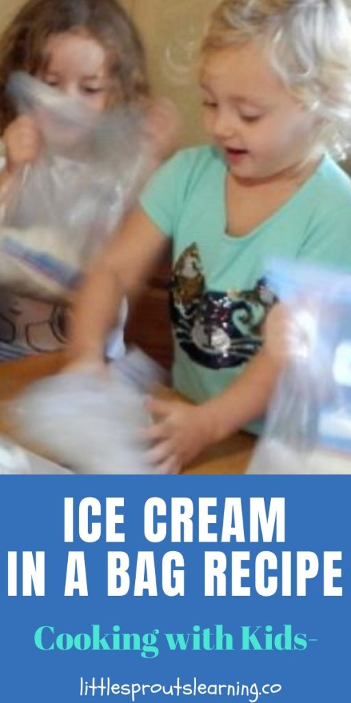 Ice cream is a super fun treat. Kids mixing their own with this ice cream in a bag recipe is even more fun. Kids learn science, sensory, and motor skills.