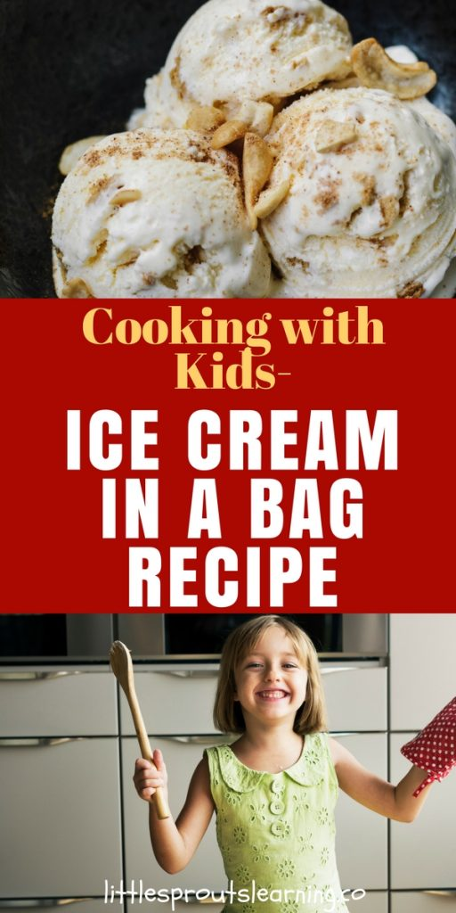 Cooking with Kids-Ice Cream in a Bag Recipe