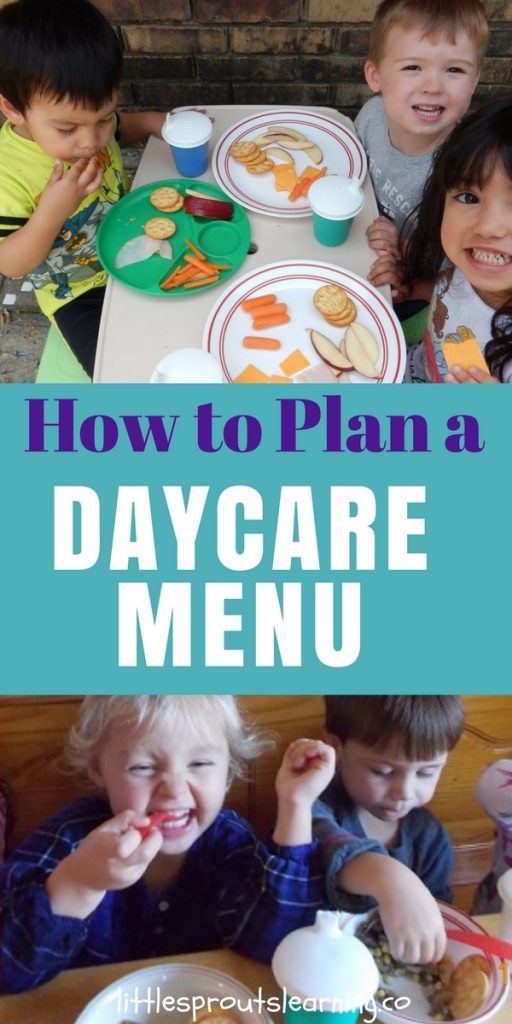 How to Plan a Daycare MENU
