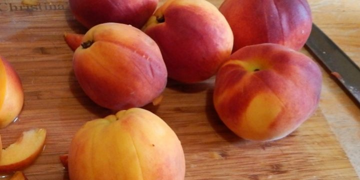 Fresh peaches are only available a few months a year. Stretch out that yummy season by storing peaches for later and avoid wasting any of the harvest too.