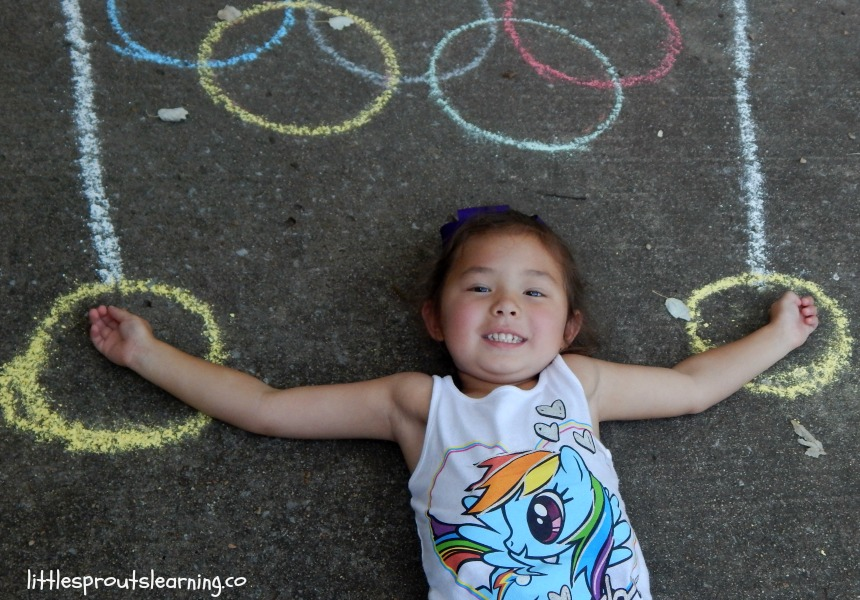 Summer Olympic activities poses for kids