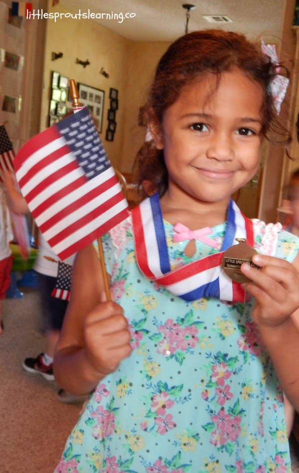 We love having Olympic activities for kids and using them to teach kids about our country, geography, doing your best, and reaching for goals.