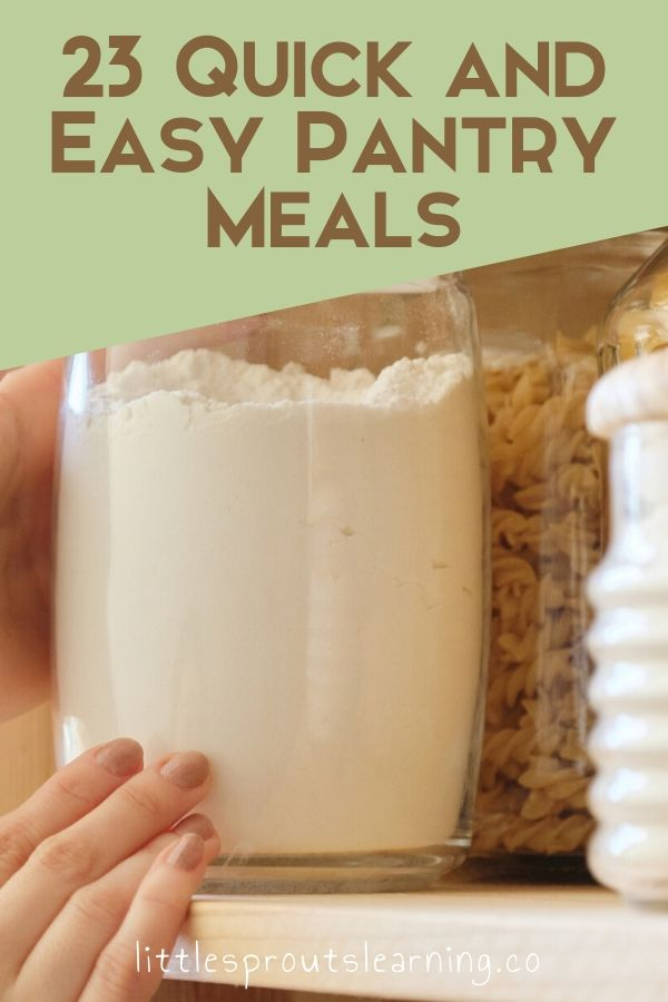 Pantry cooking can save you time and money but what can you really make with dry goods? Check out these quick and easy pantry meals.