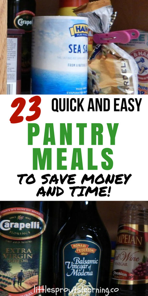 23 Simple And Beautiful Apartment Decorating Ideas: 23 Quick And Easy Pantry Meals