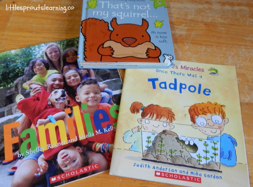 books on the table, gifts for daycare kids