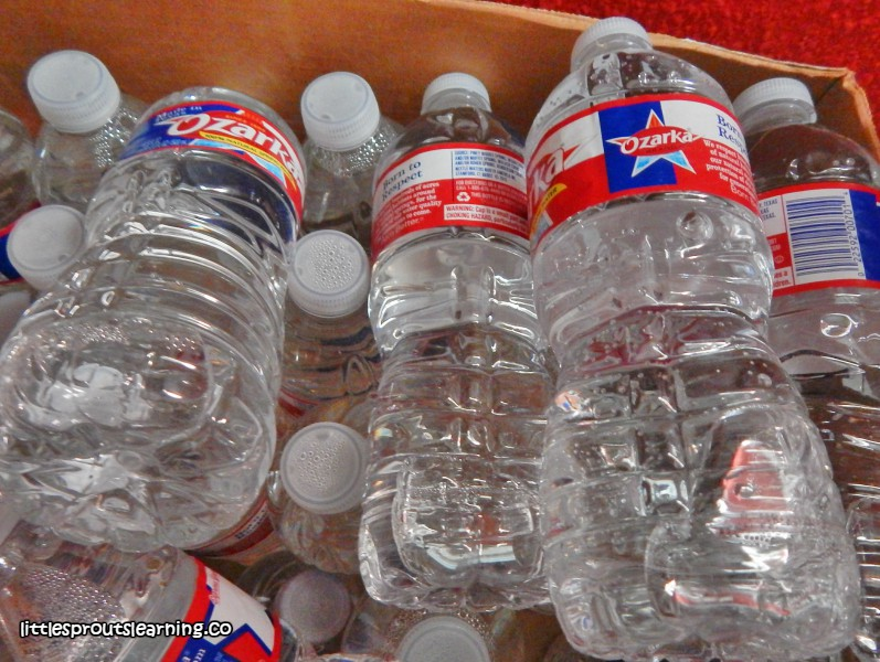 extra water stored for emergencies in home daycare