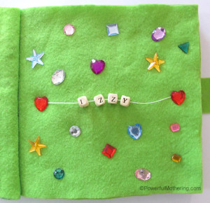 felt quiet book for kids homemade christmas gift
