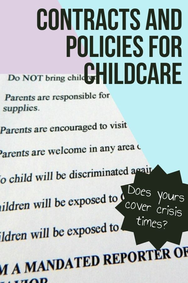 Contracts and policies for childcare are important for your business. Without them, your business will be much harder to keep a handle on.