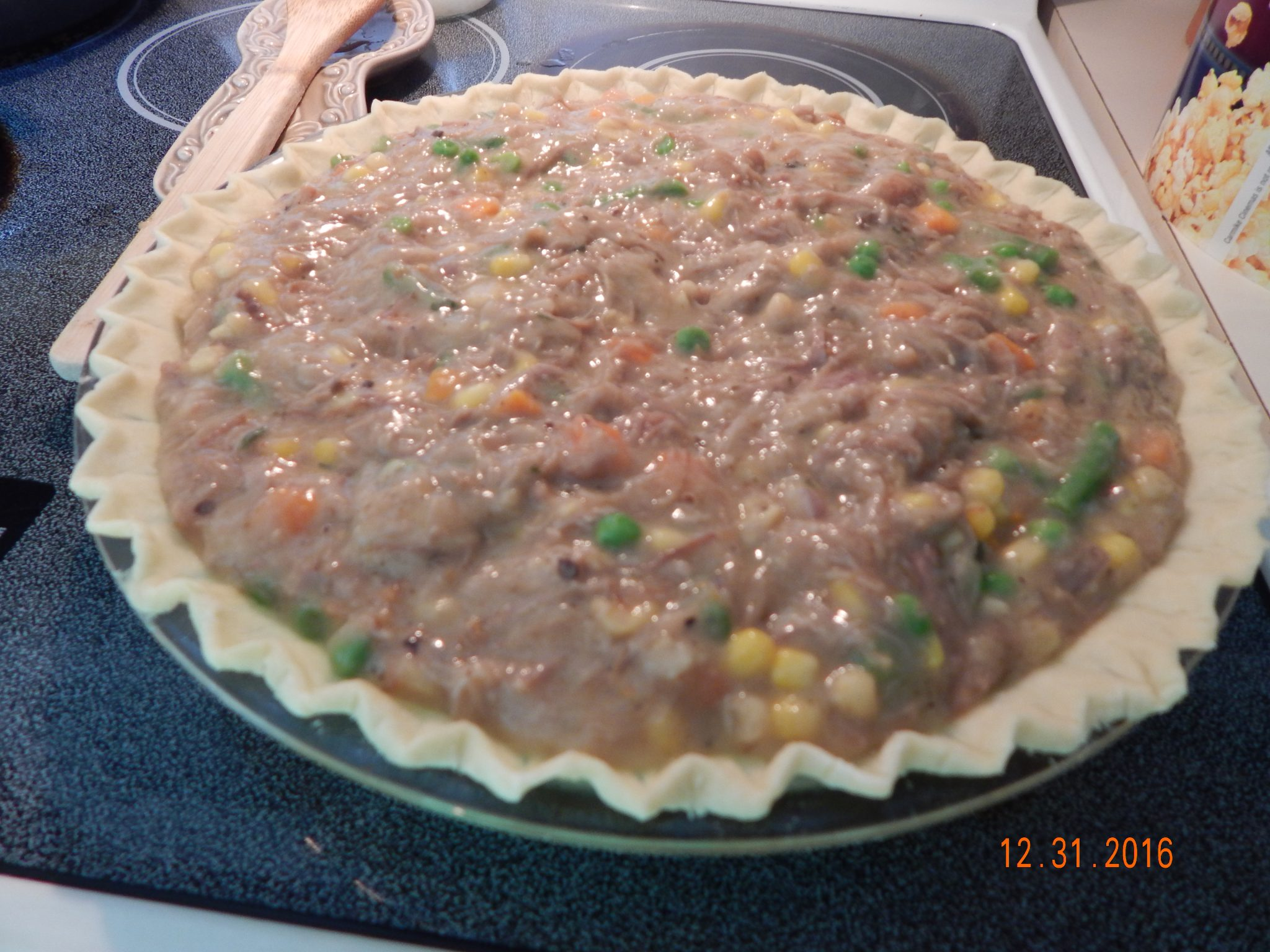 pork roast leftover pot pie