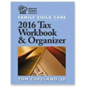 childcare taxes workbook and organizer
