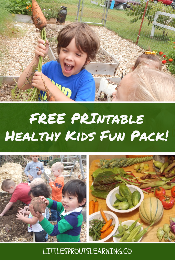 Free printable healthy kids fun pack!