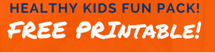 Time to get healthy with your kids? Check out this Healthy Kid's FUN Pack FREE Printable