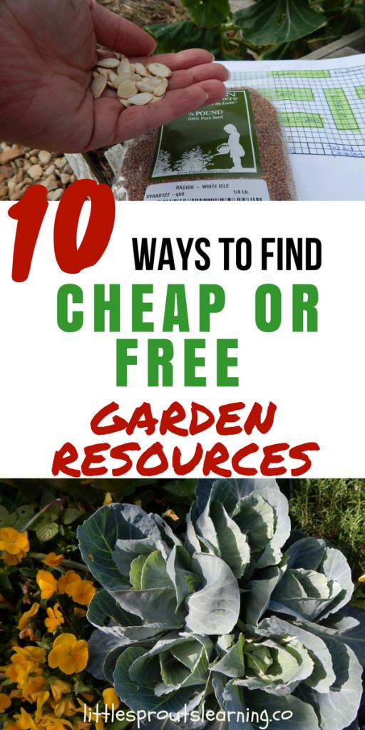 10 Ways to Find Cheap or Free Garden Resources