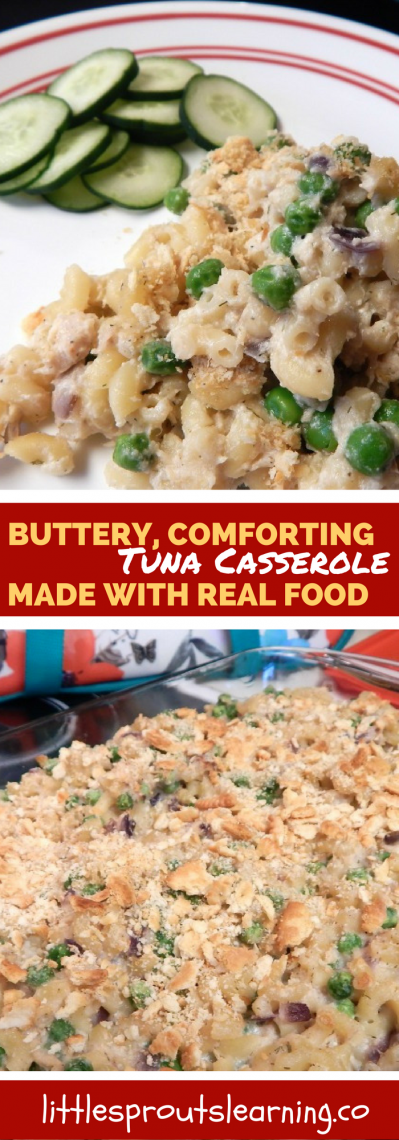 Buttery, Comforting Tuna Casserole Made with Real Food