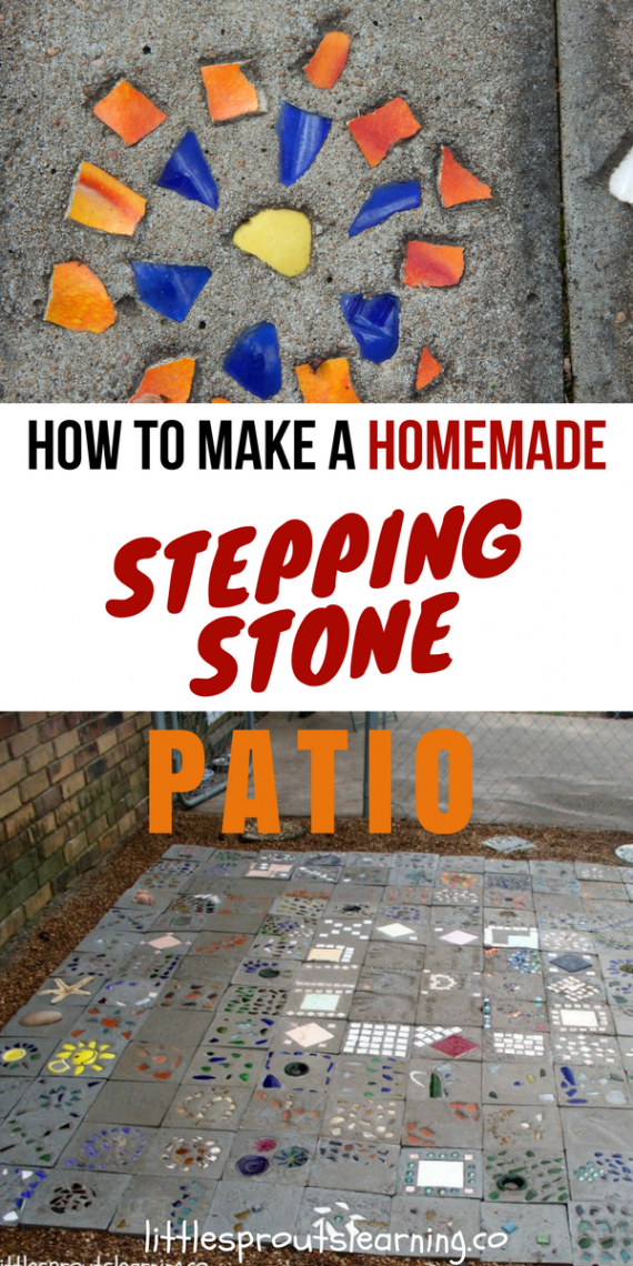 Making A Patio With Stones: How To Make A Homemade Stepping Stone Patio