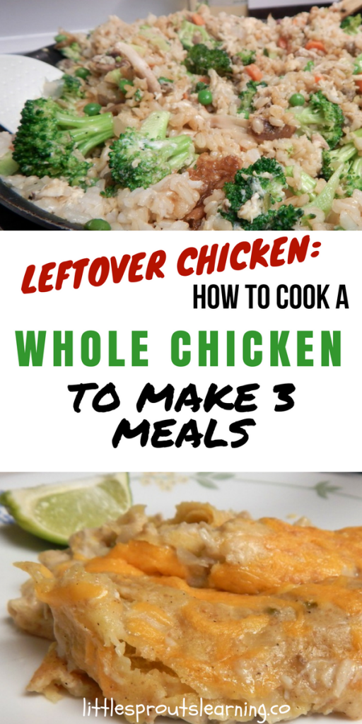 Leftover Chicken: How to Cook a Whole Chicken to Make 3 Meals