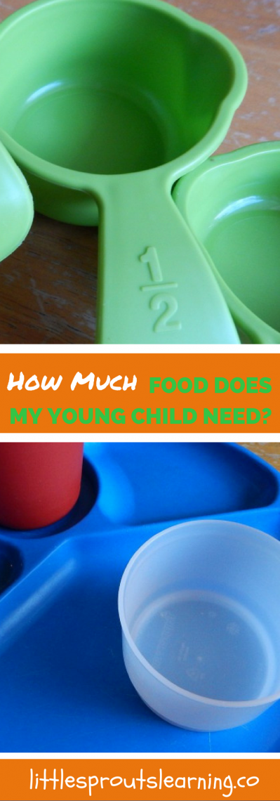 How much food does a young child need? Will my child starve?