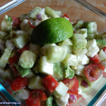 Avocados are delicious and when you add the zing of lime to this zesty avocado chopped salad, it will make your taste buds sing!