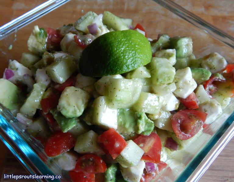 Zesty Avocado Chopped Salad
