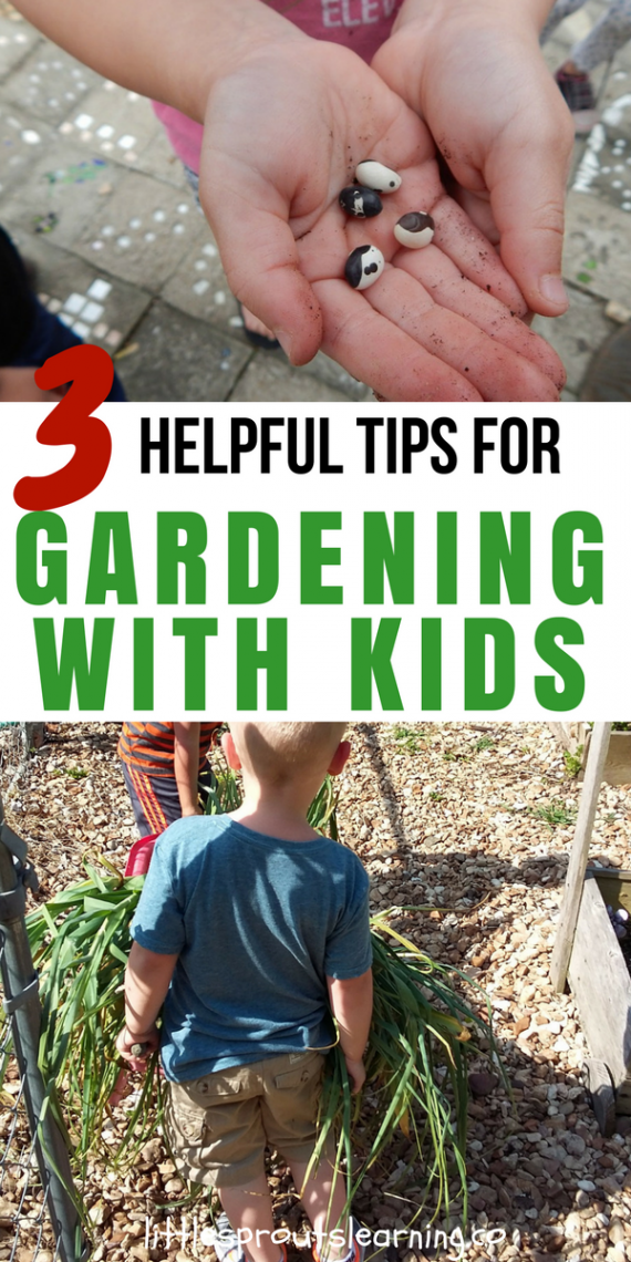 3 Helpful Tips for Gardening with Kids