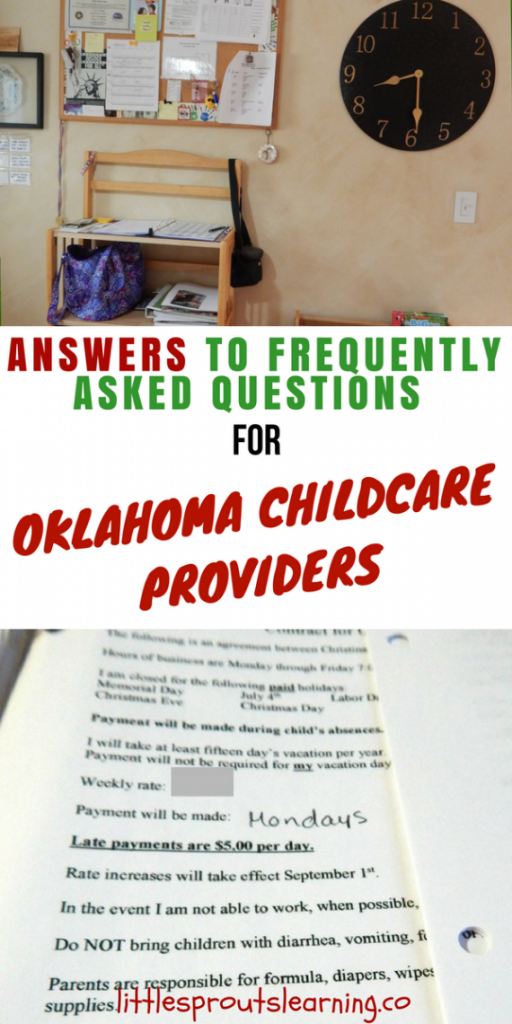 Frequently Asked Questions for Oklahoma Childcare Providers