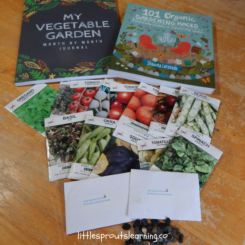 seed and book giveaway