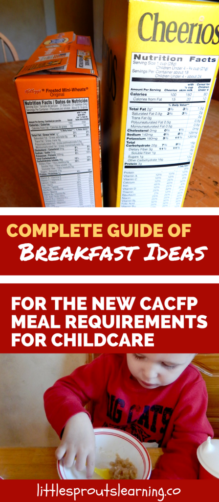 Complete Guide of Breakfast Ideas for the New CACFP Meal Requirements for Childcare