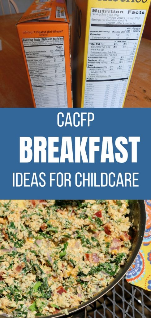 CACFP Breakfast Ideas for Childcare