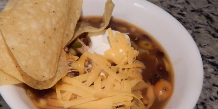 This Instant Pot Chicken Tortilla Soup has rocked my world! Toss a package of FROZEN chicken breasts in the instant pot and have a meal in no time.