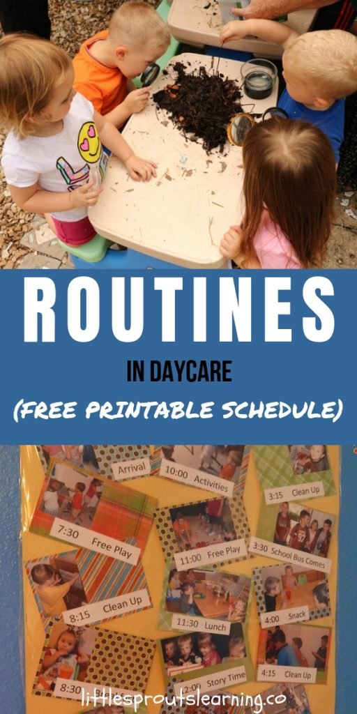 Daily routines in your daycare daily schedule is one of the most important things you'll do to make your days successful.