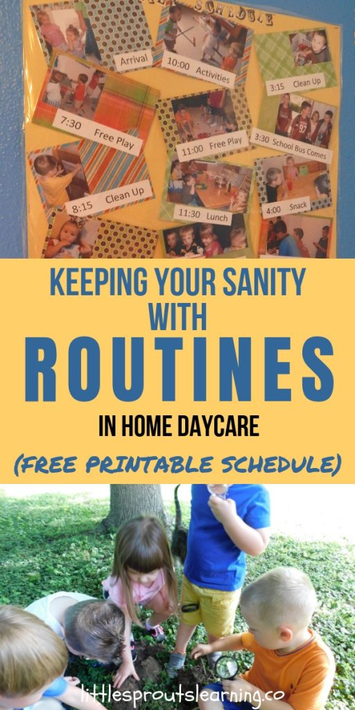 Daily routines in home daycare is one of the most important things you'll do to make your days successful. Knowing what comes next helps kids and you.