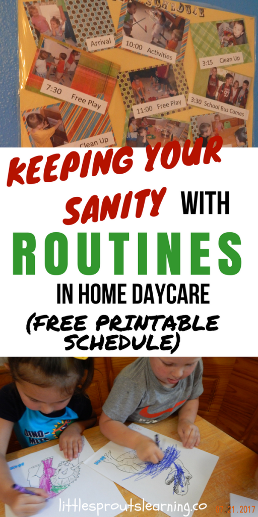 Keeping your Sanity with Routines in Home Daycare (With free printable schedule)