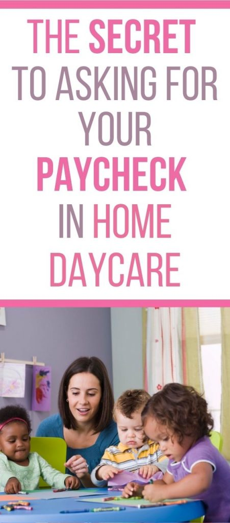 """Do you ever have families """"forget"""" your check? Use these tips that will help you when asking for your paycheck in-home daycare."""