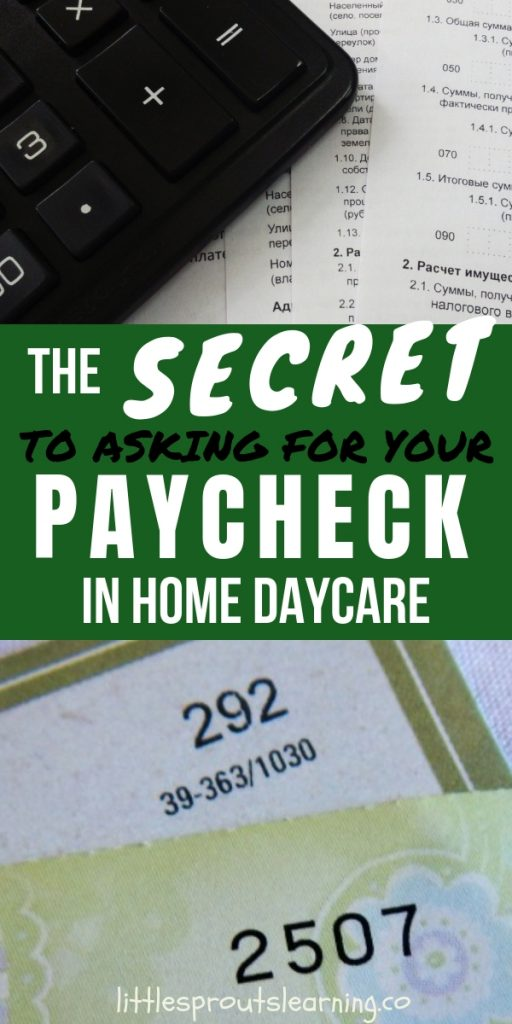 "Do you ever have families ""forget"" your check? It can be hard to ask because money can be an uncomfortable subject. Use these tips that will help you when asking for your paycheck in-home daycare."
