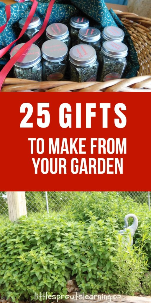 I love getting homemade gifts from my friends. It feels special to put your heart into your gift. There are so many holiday gifts to make from your garden.