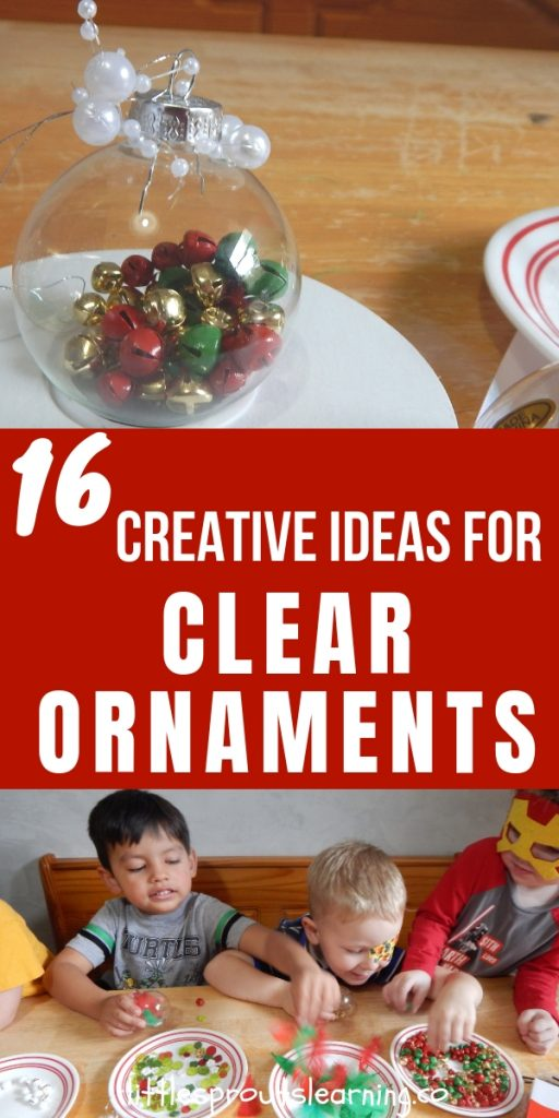 Every year at holiday time, I wrack my brain to figure out a gift for the kids to make for their parents. These ideas for clear ornaments are perfect!