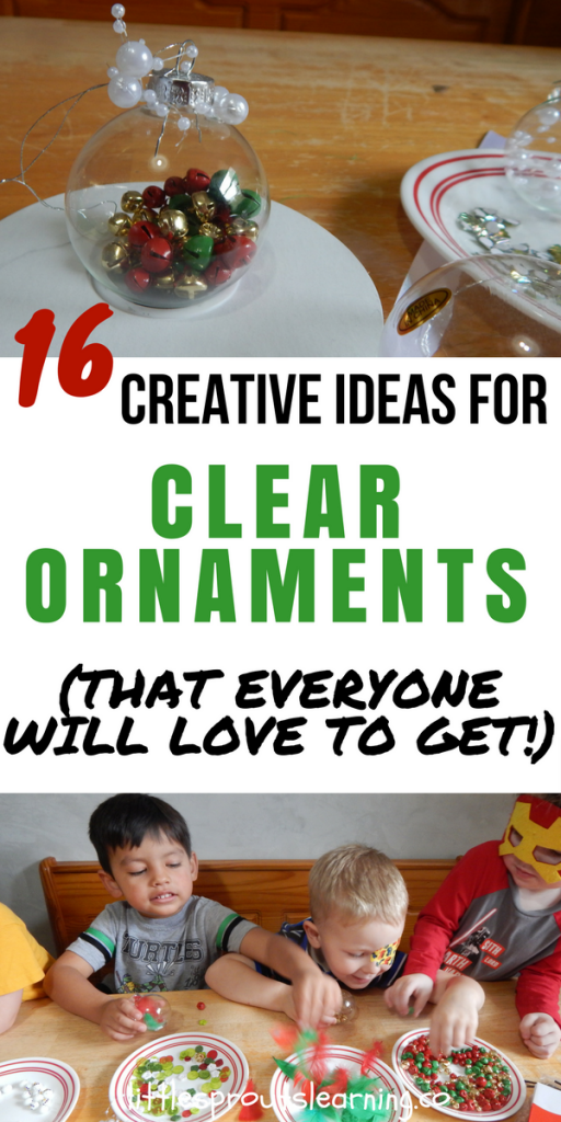 16 Creative Ideas for Clear Ornaments