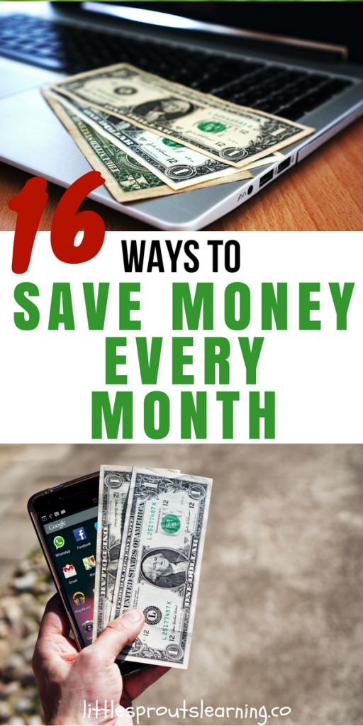 16 Ways to Save Money Every Month