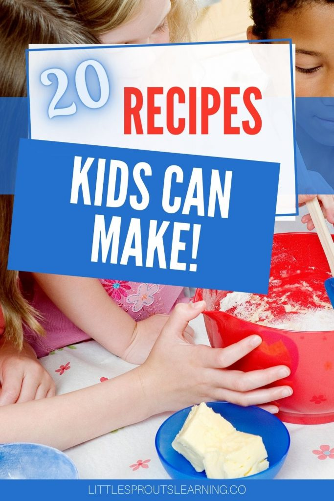 kids mixing ingredients in a bowl together