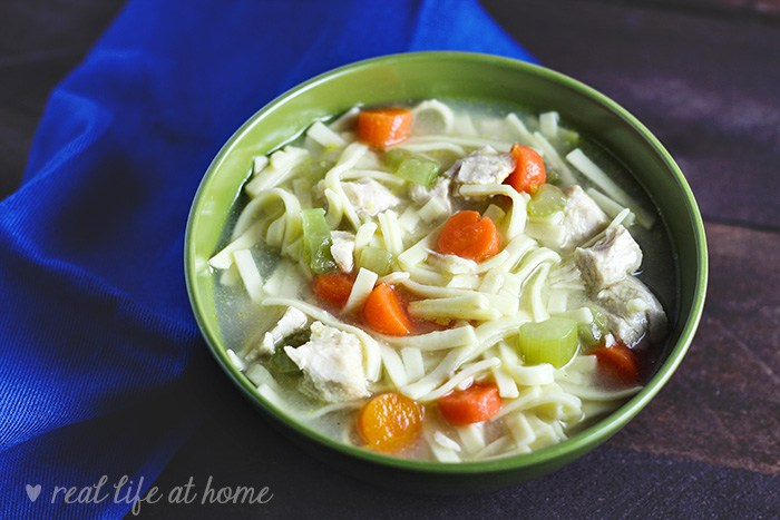 dinner ideas for soup, chicken and noodles