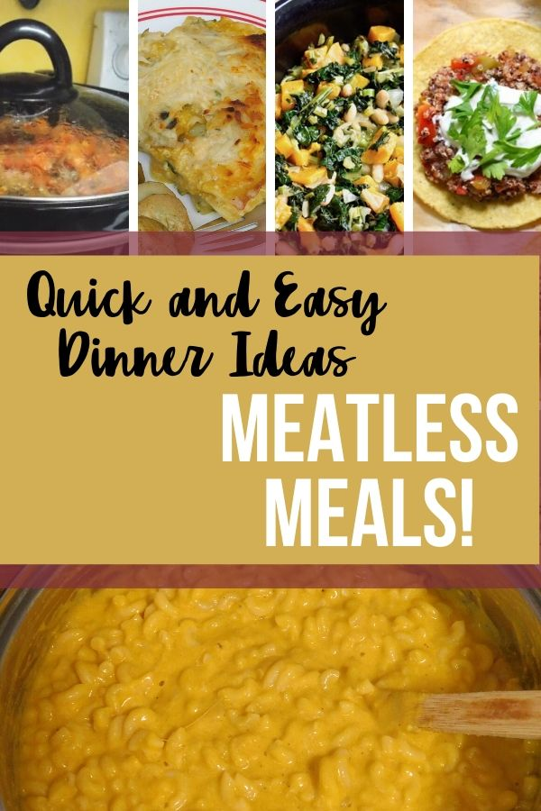 Getting dinner on the table fast is a must for busy families. Quick dinner ideas are a lifesaver and with these meatless meals, you'll never miss the meat!