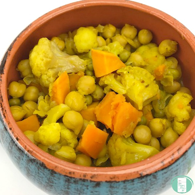 Chickpea and vegetable curry freezer meal